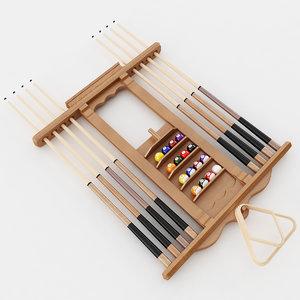 pool stick rack model