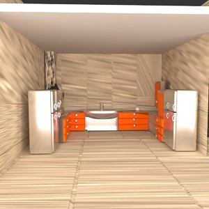 kitchen unit model