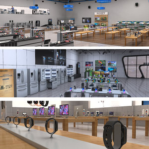 3D electronics stores