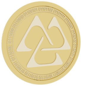 gaps gold coin 3D model