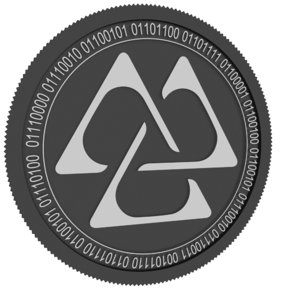 gaps black coin 3D model