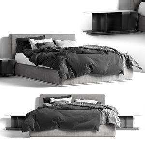 3D bed powell minotti