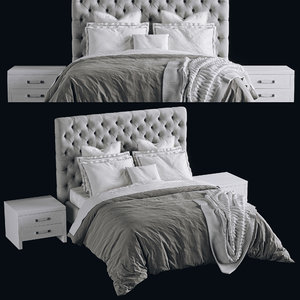 3D model bed dialma brown db001964