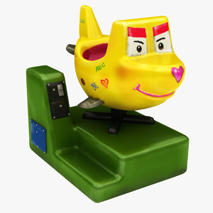 3D model coin operated ride