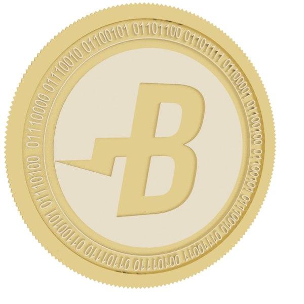 burst gold coin 3D model