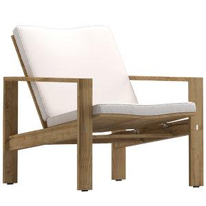 3D sutherland capri lounge chair model