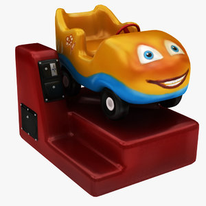 3D coin operated car ride model