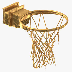 3D basketball net ripped gold