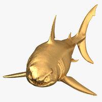 great white shark gold model