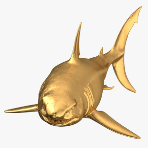 great white shark gold model