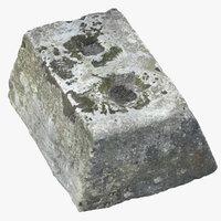 3D model old concrete block 03