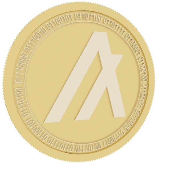 algorand gold coin 3D