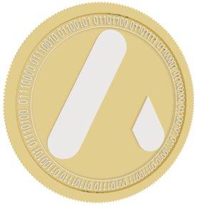 atlant gold coin 3D model