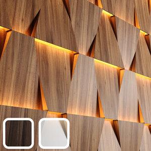 wooden panels led 3D model
