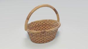 3D wooden wicker basket