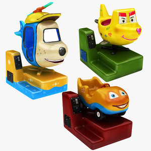 coin operated ride 3 3D model