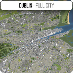 3D city dublin surrounding model