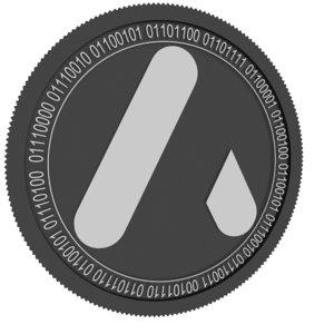 atlant black coin 3D model