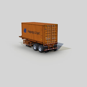 container 20ft chassis trailer model