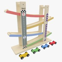 car ramp racer toy 3D