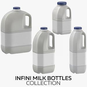 3D infini milk bottles model