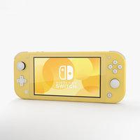 3D nintendo switch yellow