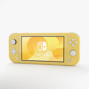 3D nintendo switch yellow