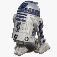 R2 D2 Animated for Cinema 4D