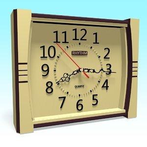 clock decor 3D model