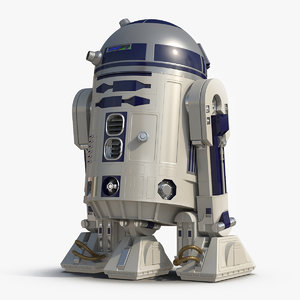 star wars character r2 d2 3D model