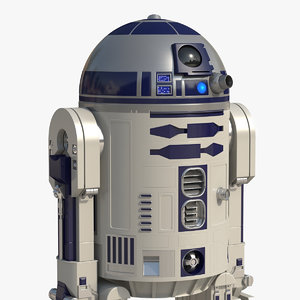 3D star wars character r2 d2