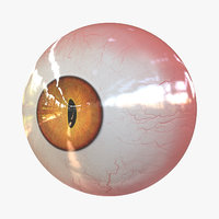 real eye red creatures 3D model