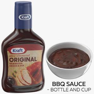 3D bbq sauce - bottle