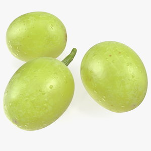 green grapes 3D