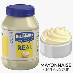 mayonnaise - jar cup 3D model