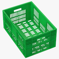 Plastic Crate Green