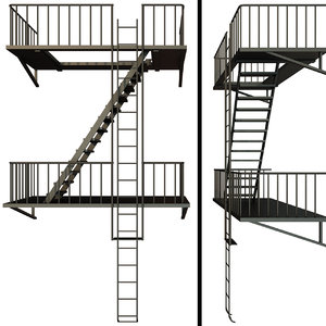 architecture stairs model