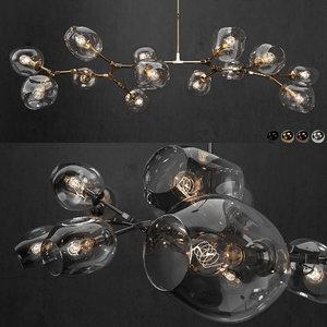 3D branching bubble model