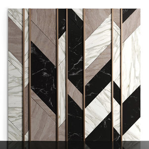 3D wall panels marble