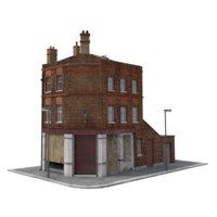 derelict pub 3D model