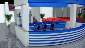 hospital floor 3D model
