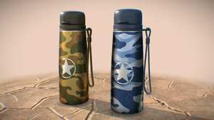 3D military water bottles