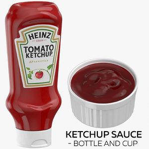 3D ketchup sauce - bottle model