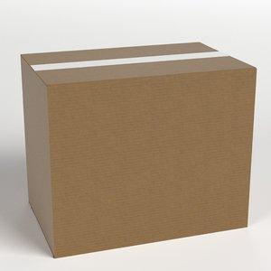 closed cardboard box 3D model