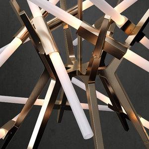 chandelier modern 3D