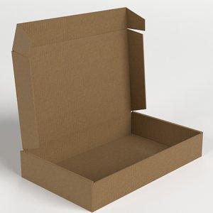 carton box open 3D