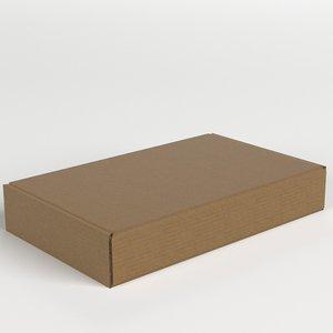 closed carton box 3D model