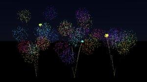 3D animation fireworks