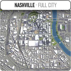 3D city nashville surrounding area model