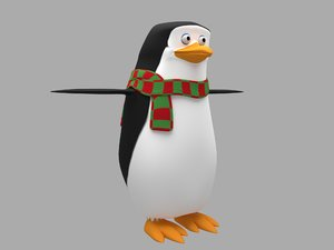 cartoon penguin art 3D model
